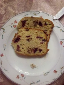 Plum Cardamom Bread slice